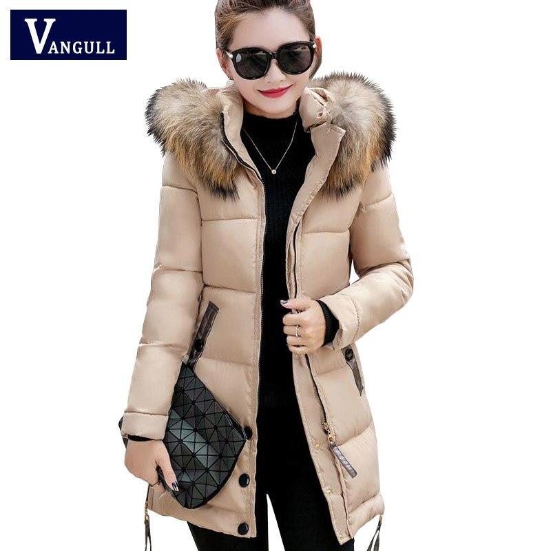 2017 fur collar plus size 3XL women winter hooded coat female outerwear parka ladies warm long jacket slim jaqueta femininaÎäåæäà è àêñåññóàðû<br><br>