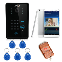 ENNIO WIFI Wireless Video Door Phone home alarm System with Card Unlock Function & Remote Wireless Control