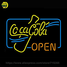 Neon Sign Cok Col Open Neon Light Sign Cap Beer Energy Drink Sign Cool Neon Bulbs handcraft Glass Neon Lamps Commercial 17x14(China)