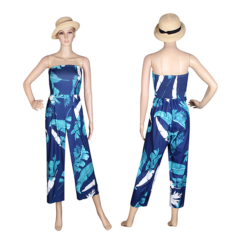 Causal Women Jumpsuits Off Shoulder Summer Bodysuit Combinaison Femme Beach Sexy Rompers Jumpsuits Pants WS390E 10