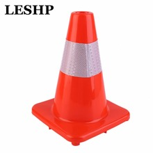 4 Pcs 12 inch High Reflective Safety Cones Warning Reflective PVC Road Traffic Safety Sign Football Training Traffic Cones