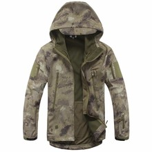 bomber jacket men Lurker Shark Skin Soft Shell TAD Military Tactical Jacket Waterproof Windproof Hunt Camouflage Army Clothing(China)