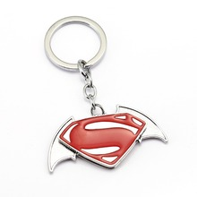 JM 5 Pcs/lot Spiderman Superman Thor Iron Man Keychain For Car Jewelry Superman & Batman Metal Key Chain Ring Holder Chaveiro