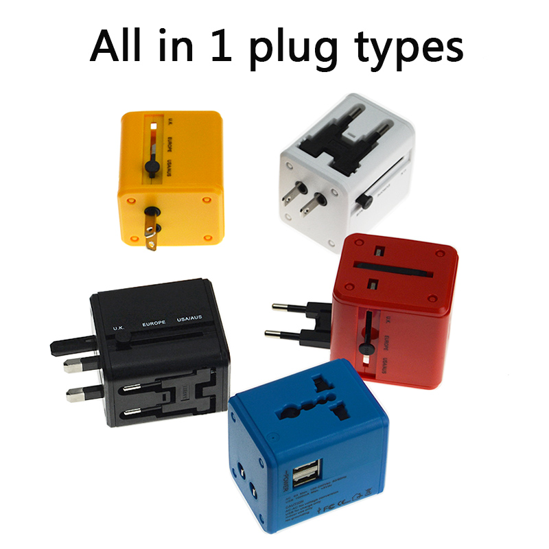 All in 1 5V 2A Universal travel AC wall charger USB fast charging phone charger for iphone 7 plus 6s plus Saumsung Xiaomi redmi