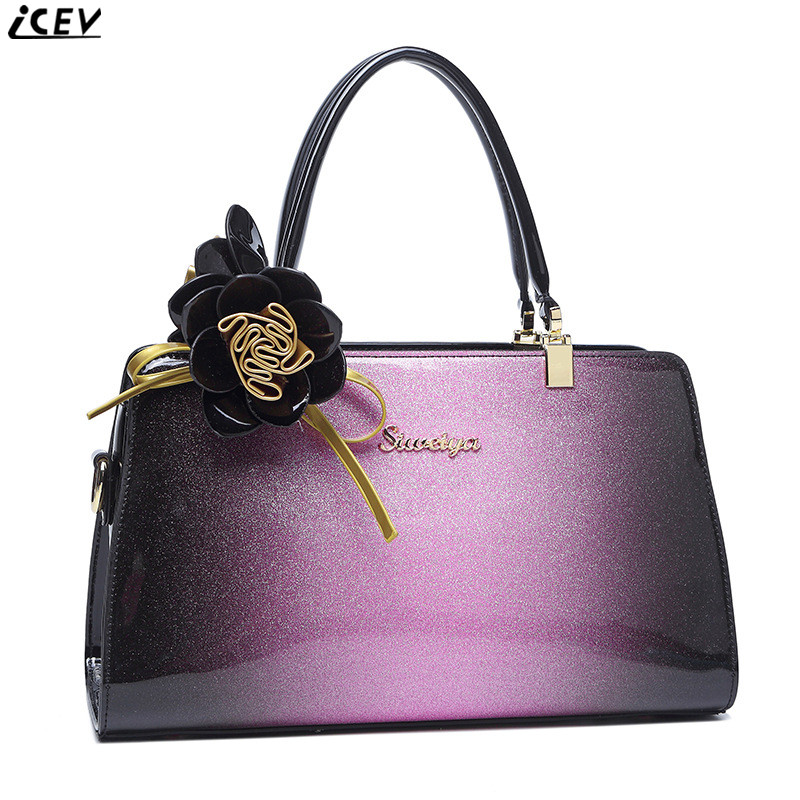 2018 new designer high quality women patent leather handbag famous brand luxury ladies red wedding hand bag clutch shoulder tote<br>