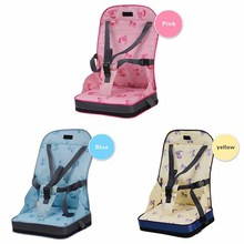 Baby High Chair Portable Foldable Booster Seats Fashion Seat Feeding Highchair 3 Color Feeding Boosters Seat For Baby Dining(China)