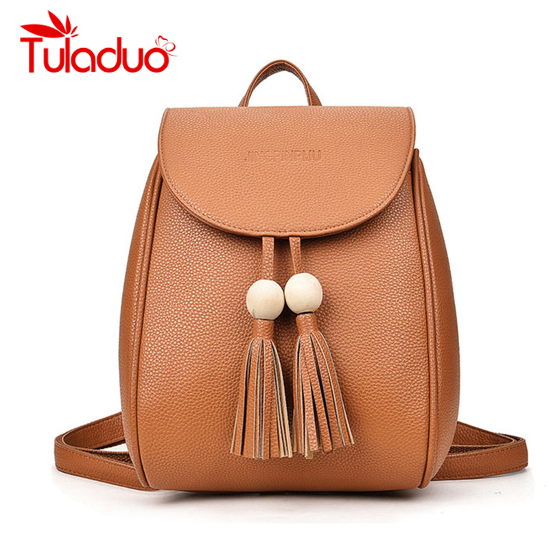 Women PU Leather Backpack Designer Bags High Quality Casual Black School Bags For Teenagers sac a main Rucksack Backpack mochila<br><br>Aliexpress