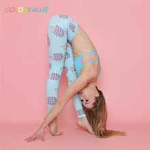 Buy Colorvalue Cute Hedgehog Printed Yoga Pants Women Flexible Sport Fitness Legging Breathable High Waist Gym Workout Tights for $18.17 in AliExpress store