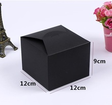 Qi Retro Large Kraft Paper Box,DIY Wedding Gift Favor Boxes,Party Candy Box,Black Paper Craft Jewelry Box Packaging(Set Of 10)(China)