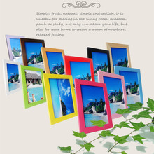 14 Colors Solid Wood Photo Frame With Size 5 6 7 8 10 12 inch A3 A4 Picture Frame Wall Decoration For Living Room Drawing Room(China)