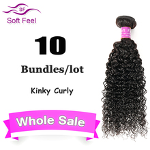 Brazilian Kinky Curly Virgin Hair Brazilian Curly Hair Extension Cheap Curly Weave Human Hair Whole Sale 10Pcs Lot Free Shipping
