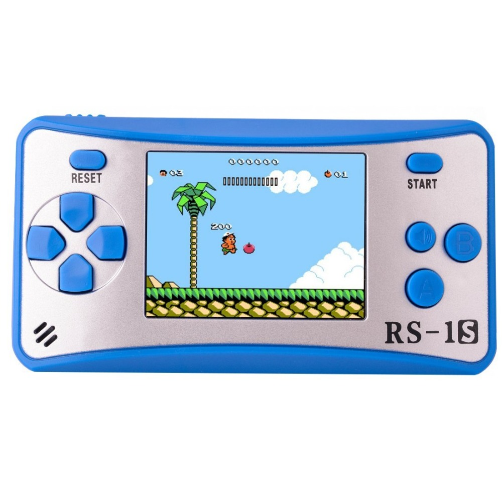 E-WOR 2.5 LCD Portable Game Console 162 Games Built-in Best Gift for Kids on Christmas Black