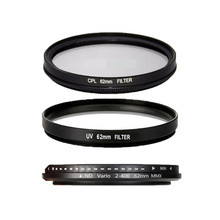 62mm UV CPL ND2 to ND400 Filter Lens For Sony For NIKON D5000 D5100 D3000 D3100 D3200 D5200 70-300 D7100 D7000 for Canon 400D(China)
