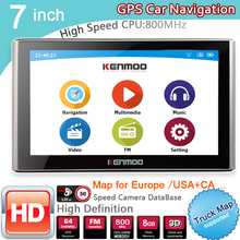 New 7 inch HD Car GPS Navigation 800M/FM/8GB/DDR3 2017 Maps For Whole Europe/ USA+Canada TRUCK Navi Camper Caravan