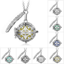 Fine Jewelry Pregnancy Balls Bola 2 Colors Cage Angel Pendants Baby Chime Hollow Out Metal Chain Necklaces for Women