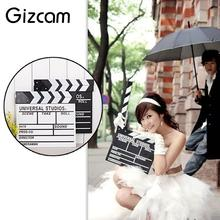 Gizcam 30x27cm Large Wood Clap-stick Slate Clapper Board Slate Classical Director Scene Clapperboard TV Movie Film Cut Props(China)