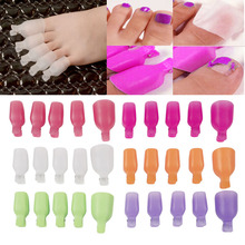 FSHALL 2017 NEW 5pcs Reusable Plastic Toes Nail Art Soak Off Clip Cap UV Gel Polish Remover Wrap   APR20_20
