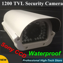 "Free shipping Sony CCD 1200TVL Waterproof CCTV Camera outdoor 1/3"" 36 array LEDS Surveillance CCTV System(China)"