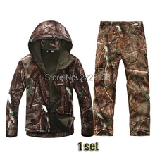 TAD 4.0 Soft Shell Pelle di Squalo Lurkers Militare Camouflage Jacket + Pants Caccia Uniforme Adatta Outdoor Tactical Gear(China)