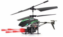 Newly V398 Missile Launching Built-in Gyro Infrared RC Helicopter 3.5 Channel Remote Control Helicogyro With Gyro Green Red(China)