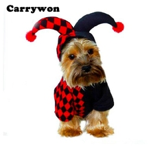 Carrywon New Novel Dog Pet Cat Clothes Hoodies Halloween Cosplay Clown Costumes Puppy Kitten Apparel Coat for Small Dogs Kitty(China)