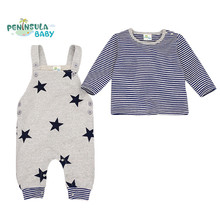 Baby Rompers Girl Clothing Boy Clothes Set Newborn Body Suits t-shirt+ Jumpsuit Cute Star Costume roupas infantil menina cheap