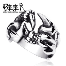 Unique Dragon Claw Ring For Men Fashion Stainless Steel Man Jewelry Biker Trendy BR8-191 US Size