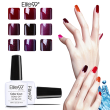 Elite99 10ml New Arrival Wine Red Series UV Nail Gel Polish Long Lasting Soak Off UV Gel Colorful Polishes Nail Art