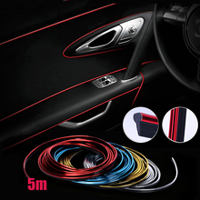 5M Car Styling Brand Stickers and Decals Interior Decorative 3D Thread Stickers Decoration Strip on Car-Styling Auto Accessories(China)