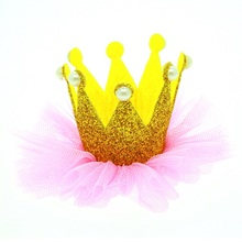 Naturalwell Baby Girl Hairpin Crown Pearl Princess Hair Clip Kids Hair Accessories Party Wedding Accessories 1pc BB075(China)