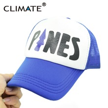 CLIMATE Gravity Falls Dipper Mabel Pines Dwarf Mesh Trucker Cap Cartoon 100%Recover Adult Boy Girls Summer Cool Sky Blue Cap Hat(China)