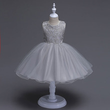 Hign Quality Custom Girl Dress 2017 Girls Wedding Dresses Girls Clothes Party Princess Vestidos 2-10 Years Party Dress Clothing(China)