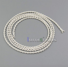 Semi-Finished Silver Foil PU Skin Cable For Custom Repair Earphone Headphone Wires LN005335(China)