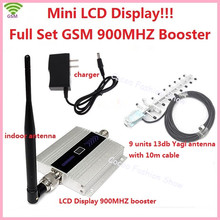 LCD Display ! FDD Mobile Phone GSM 900MHz Signal Booster GSM Signal Repeater , GSM signal amplifier with antenna cable full set(China)