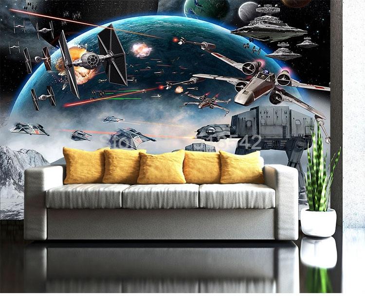 HTB1Q VHmYwTMeJjSszfq6xbtFXa0 - Custom 3D Photo Wallpaper Cartoon Star Wars Children Room Bedroom Wall Painting Living Room Wall Mural Wallpaper For Kids Room