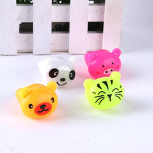 Children Cartoon Animal LED Flashing Light Up Finger Ring Pig Panda Bar Disco Glowing Ring Christmas Glow Party Supplies(China)