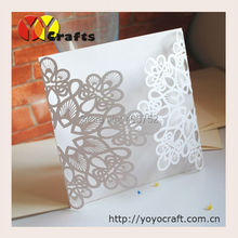 INC084--laser cut luxurious wedding  invitation cards cover,laser cut invitation cards with ribbon and buckle need extra cost