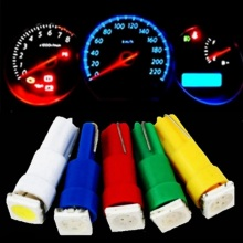 1pcs T5 37 58 70 73 74 5050 Led 1 SMD Lamp Car Gauge Speedo Dash Bulb Dashboard instrument Light 12v blue red green white yellow