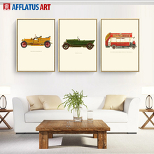 AFFLATUS Wall Canvas Art Nordic Vintage Car Canvas Painting Poster Prints Decorative Wall Pictures For Living Room Home Decor