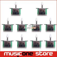 10pcs/lot Chrome 5 Way Selector Electric Guitar Pickup Switches Guitar Toggle Lever Switches Guitar Parts