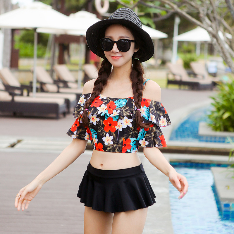 Tankini Swimsuits Women Womens Two Pieces Swimsuit Beach Swim Woman 2017 New Bikini Suit Ladies 2 Skirt High Waist Push Up<br><br>Aliexpress
