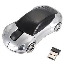 New Mini 2.4Ghz 1600DPI 10m Wireless Car Shape Colorful USB LED Optical Mouse Mice For PC Laptop Notebook(China)
