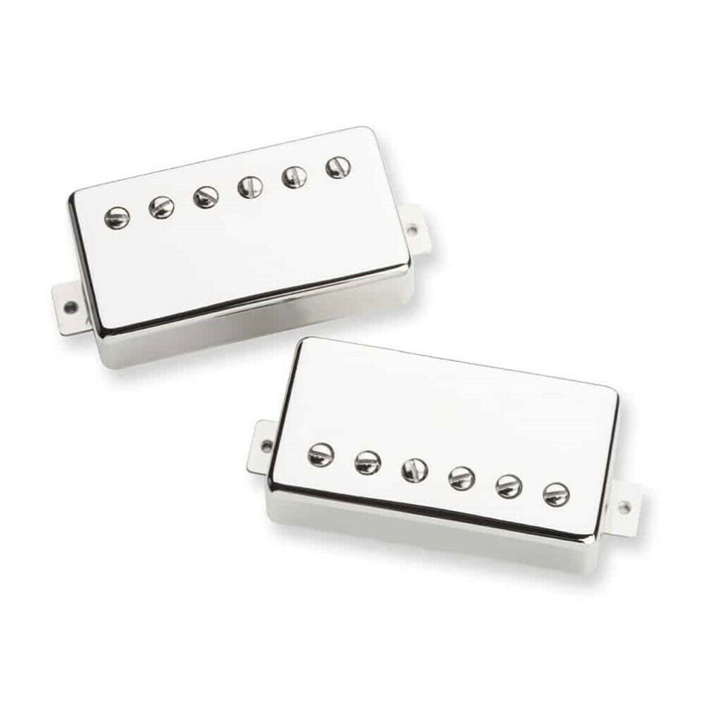 VINTAGE OUTPUT NECK HUMBUCKER CHROME ALNICO 2 FOUR CONDUCTOR WIRED NICKEL SILVER