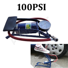 Car pump air compressor Car-styling Foot Air Pump 100PSI Car Vehicle Tires Bicycle Bike Motorbike Ball Inflator(China)