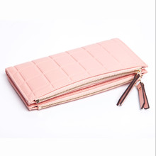 High Capacity Fashion Women Wallets  PU Leather Wallet Female Double Zipper Ladies  Coin Purse 2010-3