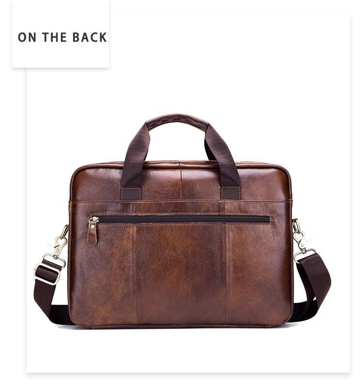 Skórzana teczka męska vintage torba biznesowa na komputer moda messenger torby torba męska na ramię listonosz męskie torby -