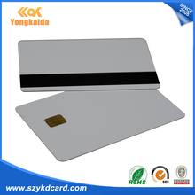 1000PCS Composite Card sle4442 ic contact card& Hi-CO Magnetic Stripe(China)