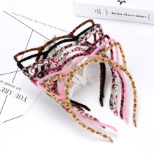 SP&CITY Harajuku Colorful Cute Leopard Cat Ears Headwear For Girls Fashion Modern Funny Monster Women Hairbands Accessories