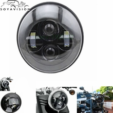 1 PCS Black 40w Headlight Motorcycle led headlamp 7'' Motorcycle Black Projector Daymaker LED Light Bulb Headlight for Harley