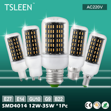 Lampe e27 led bulb +Cheap+ 96 138 led e14 gu10 g9 b22 30w 35w 4014 smd cover corn light lamp bulb 220v powerful leds